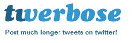 twerbose1 Best Tools of 2012 to post More than 140 Characters Tweet on twitter