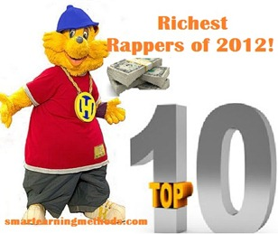 White Rapper Bling Cartoon Bear Rap Music Top 10 Richest Rappers Of 2012!