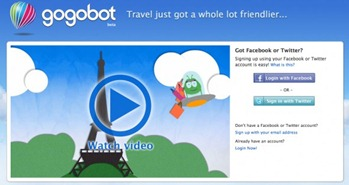 gogobot on facebook and twitter