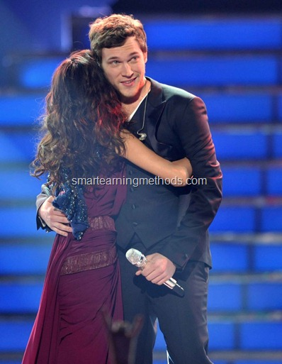 sanchez congratulating Life of Phillip Phillips': Winner of American Idol (Season 11)