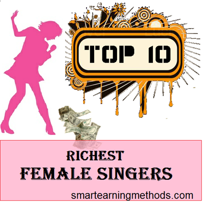 top 10 richest female singers of 2012