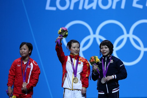 Chinas Wang Mingjuan wins Gold in olympics 2012 Olympics 2012: Wang Mingjuan Takes Gold to China!