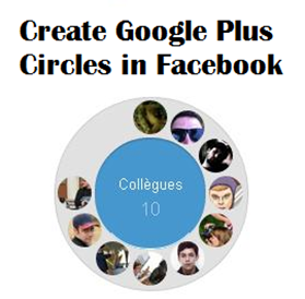 Create Google Plus Circles in Facebook