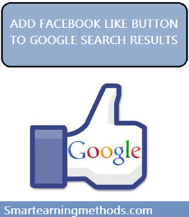 add facebook like button to google search engine