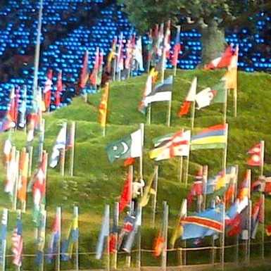 flags of countries taking part in olympics 2012 London Olympics 2012 Opening Ceremony Expenditure Highlights!