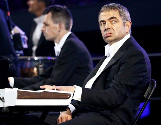 mr. bean playing piano in olympics 2012 London Olympics 2012 Opening Ceremony Expenditure Highlights!