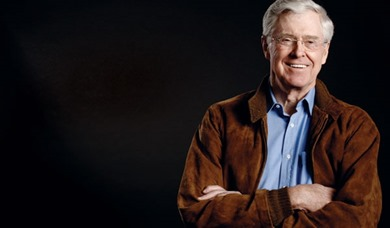 Chairman and CEO, Koch Industries&lt;/p&gt;<br /> &lt;p&gt;&lt;strong&gt;2004-08 Giving*&lt;/strong&gt; $246 million&lt;/p&gt;<br /> &lt;p&gt;David Koch's older brother, Charles Koch focuses on libertarian causes, giving money for academic and public policy research and social welfare around strict conservative ideals. He co-founded the Cato Institute and contributes to groups such as the Institute for Humane Studies at George Mason University. Other recipients of Koch's charity include Florida State University, Mercatus Center at George Mason University, the Bill of Rights Institute, Big Brothers Big Sisters, Salvation Army, and Koch Cultural Trust (formerly Kansas Cultural Trust).&lt;/p&gt;<br /> &lt;p&gt;&lt;cite&gt;*Based on public records and interviews with donors&lt;br /&gt;<br /> Data: BusinessWeek, The Chronicle of Philanthropy and the Center on Philanthropy at Indiana University&lt;/cite&gt;