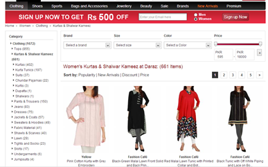 7 websites to do online shopping in pakistan smart for Online shopping websites list